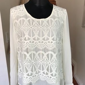 NY COLLECTION lace top